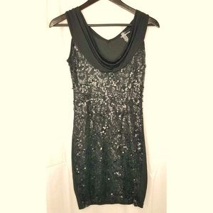 Vanity sequin dress black size medium